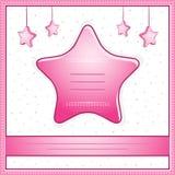 Tarjeta de la invitación de la ducha del bebé Imágenes de archivo libres de regalías