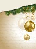 Tarjeta de la invitación de la Feliz Navidad y de la Feliz Año Nuevo Fotografía de archivo libre de regalías