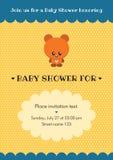 Tarjeta de la invitación de la fiesta de bienvenida al bebé Imagen de archivo