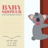 Tarjeta de la invitación de la fiesta de bienvenida al bebé Fotografía de archivo
