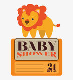 Tarjeta de la invitación de la fiesta de bienvenida al bebé Fotos de archivo libres de regalías