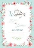 Tarjeta de la invitación de la flor Imagenes de archivo