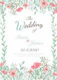 Tarjeta de la invitación de la flor Foto de archivo