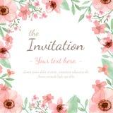 Tarjeta de la invitación de la flor Foto de archivo libre de regalías