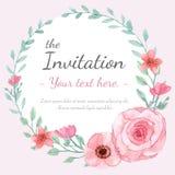 Tarjeta de la invitación de la flor Fotos de archivo