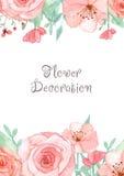 Tarjeta de la invitación de la flor Fotografía de archivo libre de regalías