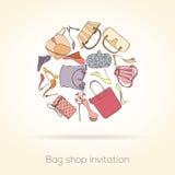 Tarjeta de la invitación de la moda Imagen de archivo