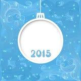 Tarjeta de la invitación de la Navidad del vector Fotografía de archivo