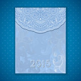 Tarjeta de la invitación de la Navidad del vector y del Año Nuevo Foto de archivo libre de regalías