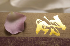 Tarjeta de la invitación de Pental Foto de archivo libre de regalías