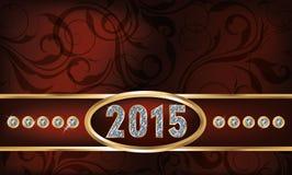Tarjeta de la invitación del Año Nuevo del diamante 2015 Fotografía de archivo