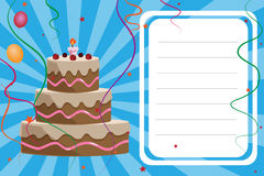 Tarjeta de la invitación del cumpleaños - muchacho ilustración del vector