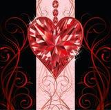 Tarjeta de la invitación del día de tarjetas del día de San Valentín Foto de archivo