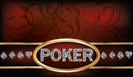 Tarjeta de la invitación del póker Fotos de archivo libres de regalías