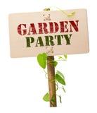 Tarjeta de la invitación del partido de jardín Fotos de archivo