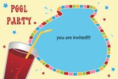 Tarjeta de la invitación del partido de piscina Foto de archivo