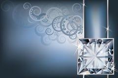 Tarjeta de la invitación del saludo con el diamante Fotografía de archivo