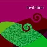 Tarjeta de la invitación del vector stock de ilustración