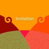 Tarjeta de la invitación del vector Fotografía de archivo libre de regalías