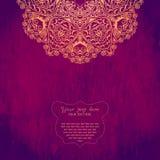 Tarjeta de la invitación del vintage con el ornamento del cordón Desig del marco de la plantilla libre illustration