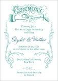 Tarjeta de la invitación del vintage de la boda Imagen de archivo libre de regalías
