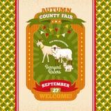 Tarjeta de la invitación del vintage de la feria del condado stock de ilustración