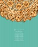 Tarjeta de la invitación del vintage Diseño del marco del modelo para la tarjeta vendimia libre illustration