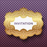 Tarjeta de la invitación. Fondo del vintage con el lugar para Foto de archivo libre de regalías