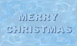 Tarjeta de la invitación de la Navidad del vector Fotografía de archivo libre de regalías
