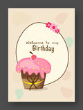 Tarjeta de la invitación o de felicitación del cumpleaños Fotografía de archivo libre de regalías