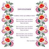Tarjeta de la invitación para casarse Imágenes de archivo libres de regalías
