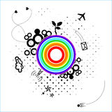 Tarjeta abstracta con el planeta desconocido Imagen de archivo