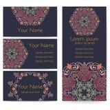 Tarjeta de la invitación y del aviso de la boda con el ornamento en estilo árabe Modelo del Arabesque Ornamento étnico del este Fotos de archivo libres de regalías