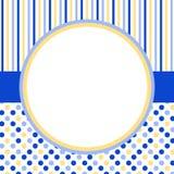Tarjeta de la invitación con un marco y los lunares del círculo Imágenes de archivo libres de regalías