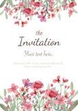 Tarjeta de la invitación de la boda Imagen de archivo libre de regalías