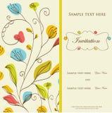Tarjeta de la invitación de la vendimia Fotografía de archivo