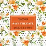 Tarjeta de la invitación o de la enhorabuena de la boda Imágenes de archivo libres de regalías