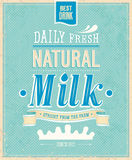 Tarjeta de la leche del vintage. Imagenes de archivo