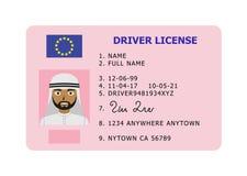 Tarjeta de la licencia de conductor de coche Fotografía de archivo