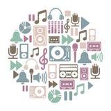 Tarjeta de la música Fotografía de archivo