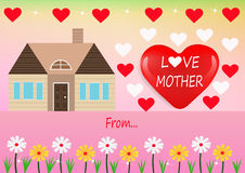 Tarjeta de la madre del amor Foto de archivo