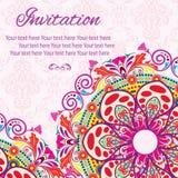 Tarjeta de la mandala de la invitación Imagen de archivo