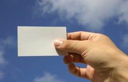 Tarjeta de la mano y de visita Foto de archivo