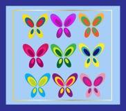 Tarjeta de la mariposa Fotografía de archivo libre de regalías