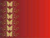 Tarjeta de la mariposa Fotos de archivo libres de regalías