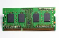 Tarjeta de la memoria ram de para un ordenador. Fotografía de archivo libre de regalías