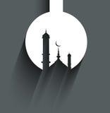 Tarjeta de la mezquita del kareem del Ramadán para el fondo religioso stock de ilustración