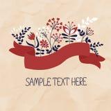 Tarjeta de la muestra Imagen de archivo libre de regalías