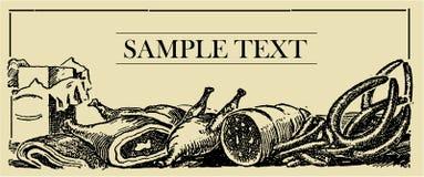 Tarjeta de la muestra de la carne Imagenes de archivo