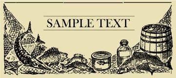 Tarjeta de la muestra de los pescados Imágenes de archivo libres de regalías